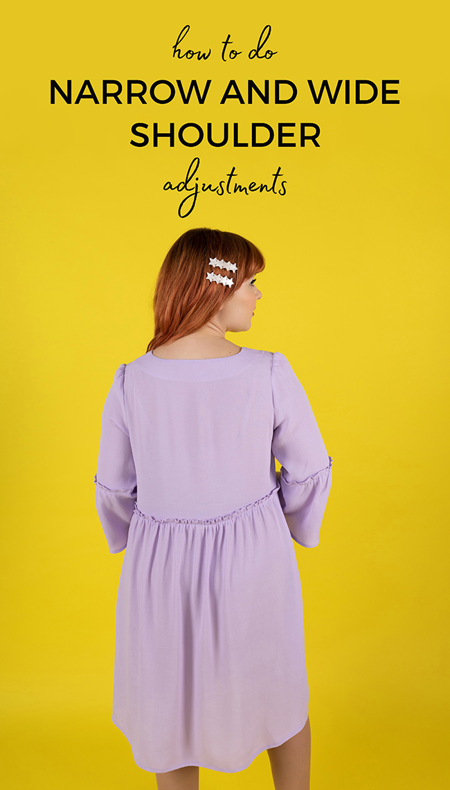 How to do wide narrow shoulder adjustment - Tilly and the Buttons
