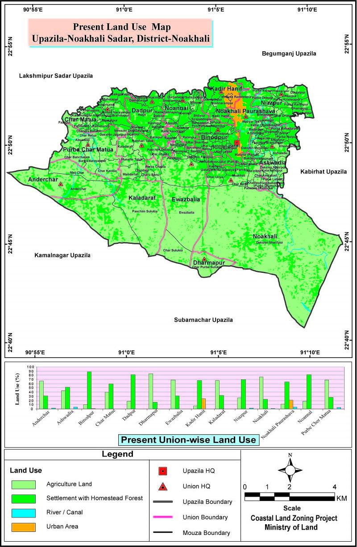 Noakhali Sadar Upazila Mouza Map Noakhali District Bangladesh