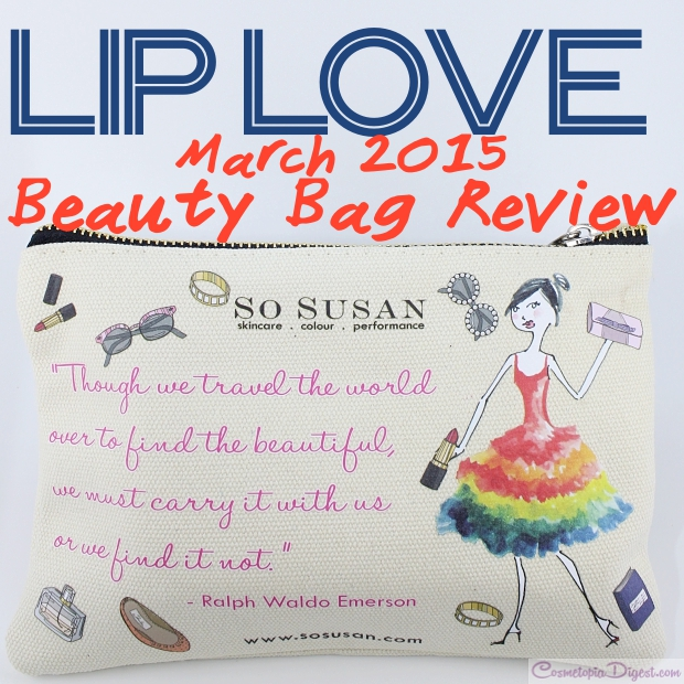 Lip Love March 2015 Beauty Bag review, swatches