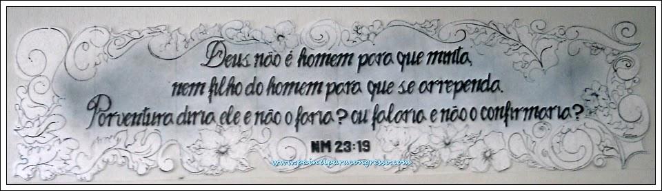 """""""Deus não é homem para que minta, nem filho do homem para que se arrependa. Porventura diria Ele e não o faria? Ou falaria e não o confirmaria?  (Números 23:19)"""