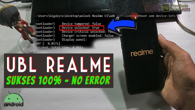 tutorial unlock bootloader smartphone realme