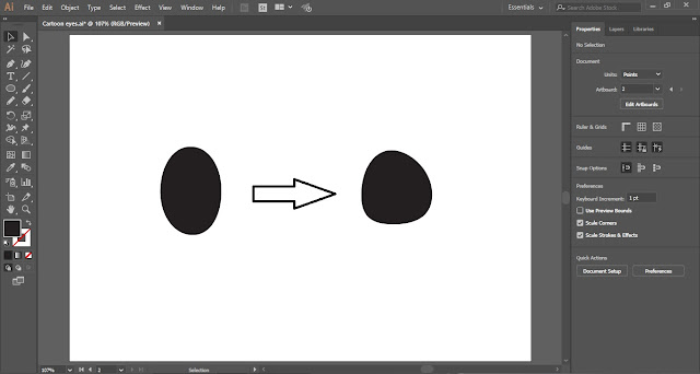 Cartoon Eyes in Adobe Illustrator