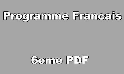 Programme Francais 6eme PDF