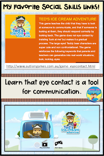 Help kids realize that eye contact is important in this cute game.