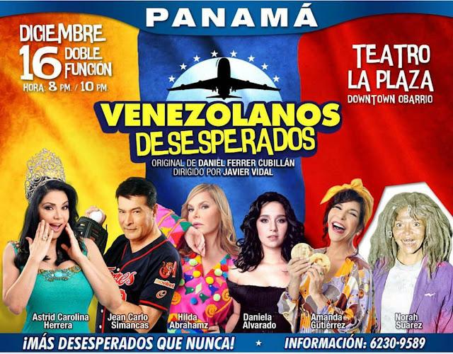 panama teatro plaza obra venezolanos desesperados