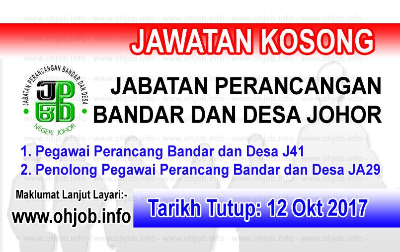 Jawatan Kerja Kosong Jabatan Perancangan Bandar dan Desa Negeri Johor logo www.ohjob.info oktober 2017