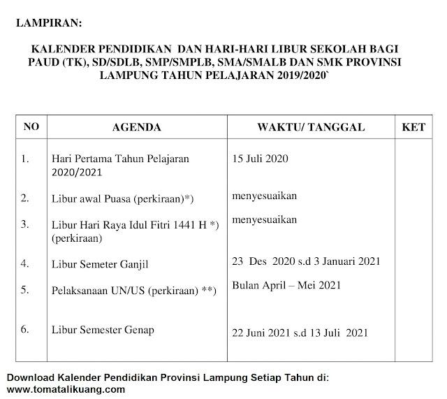 download kalender akademik lampung tahun pelajaran 2020/2021; tomatalikuang.com