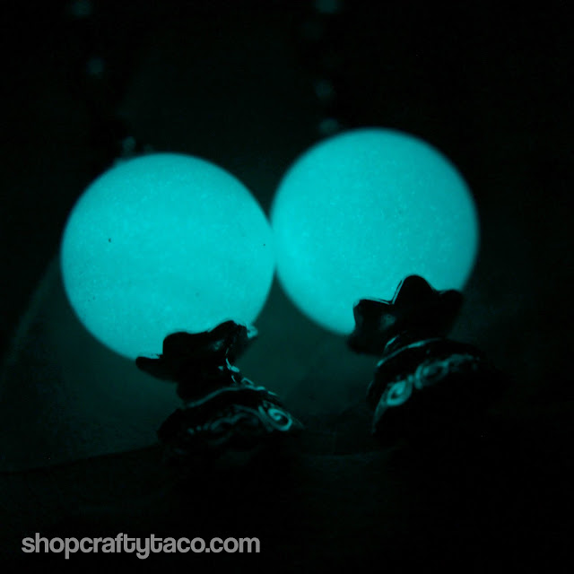 Quite Fortunate Glow in the Dark Dangle Earrings | Polish Pickup August 2019
