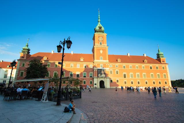 Palazzo reale e colonna di Sigismondo III Vasa-Varsavia