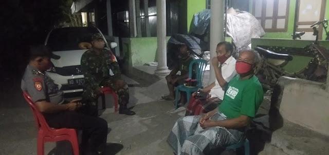 Jaga Kondusifitas Wilayah Babinsa Dan Bhabinkamtibmas Lakukan Patroli Bersama