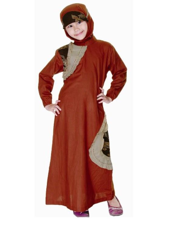 Contoh Baju Muslim Batik Anak Perempuan Terbaru