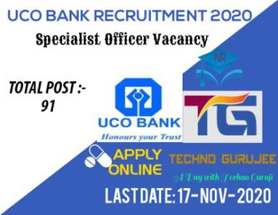 UCO-Bank-Specialist-Officer-SO-Various-Post-Recruitment-2020