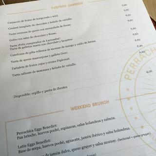 Restaurante Perrachica Madrid Carta
