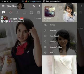 BBM MOD Maria Ozama v3.2.0.6 APK Versi Terbaru
