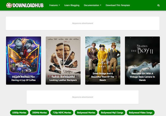 Download hub movies blogger themes | Responsive templates