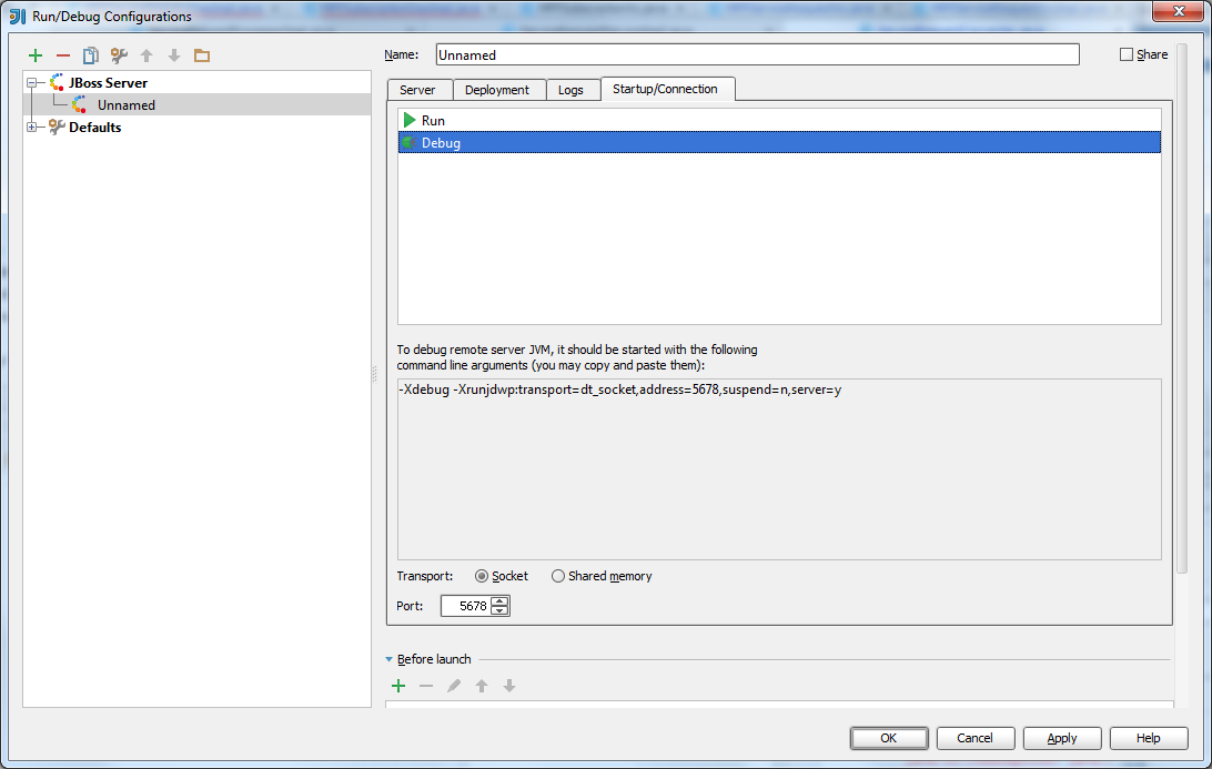 Arthur's Programming Notes: How to setup remote JBoss debugging with