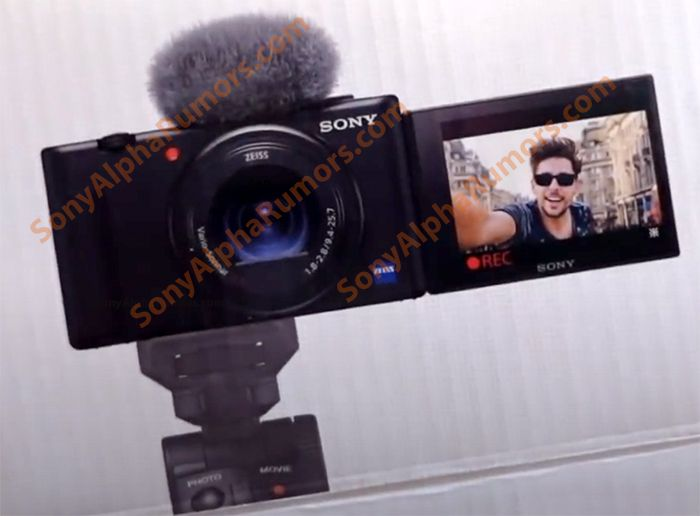 The following Sony ZV-1 camera has a design that can emulate Rex100