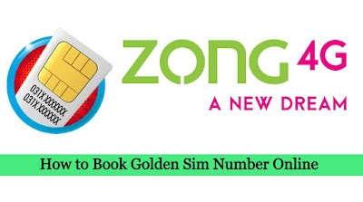Zong book my number online - How to Book Zong Golden Number