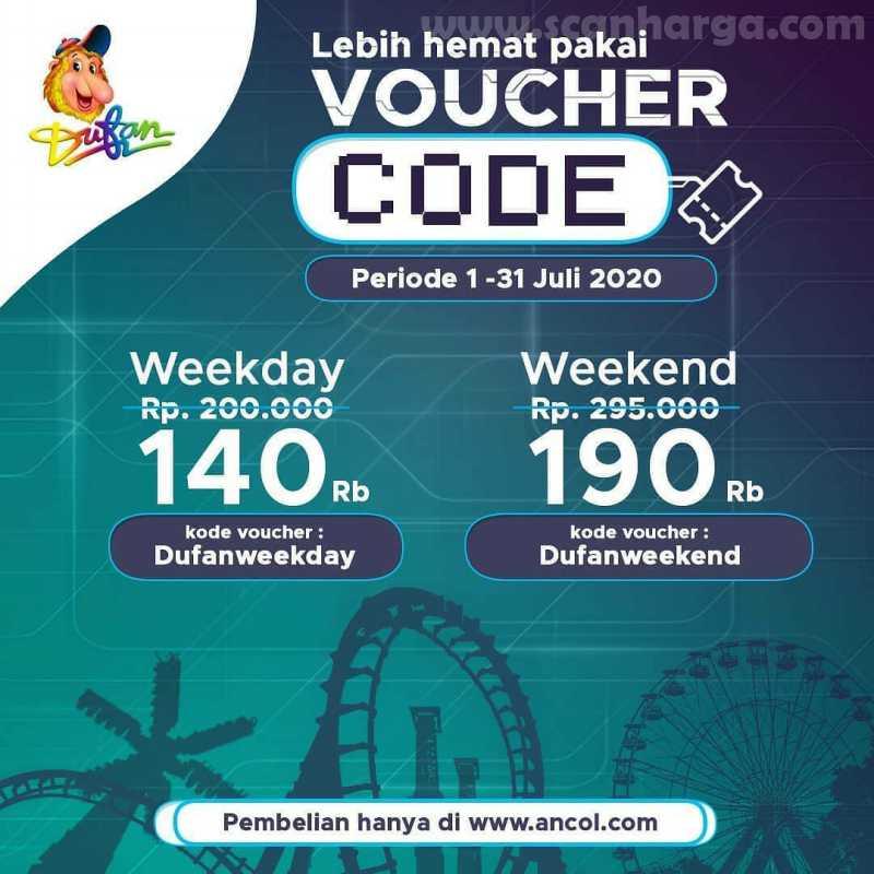 Dufan Promo Kode Voucher Kejutan Harga Spesial Edisi Juli 2020