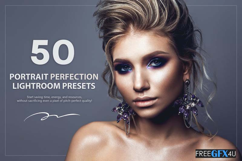 50 Portrait Perfection Lightroom Presets