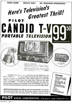 Pilot Candid Portable Television