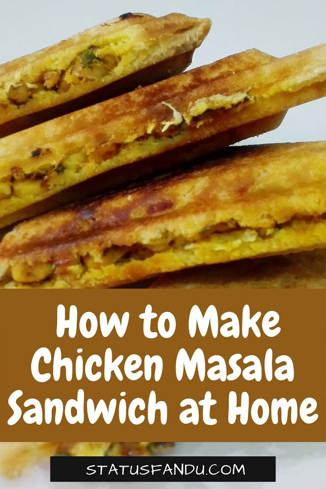How to Make Chicken Masala Sandwich at Home