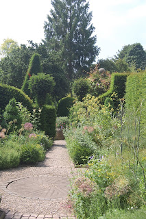 Creating focal points in the herb garden at York Gate