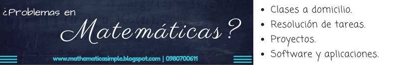 Matemáticas: Clases, tareas, proyectos, software, etc.