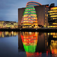 Pictures of Dublin at night: The Dublin Convention Centre