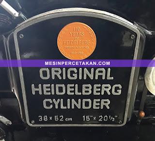 Heidelberg Cylinder KSBA 38x52