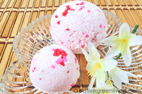 How to make bath bombs with sprinkles for valentine's day