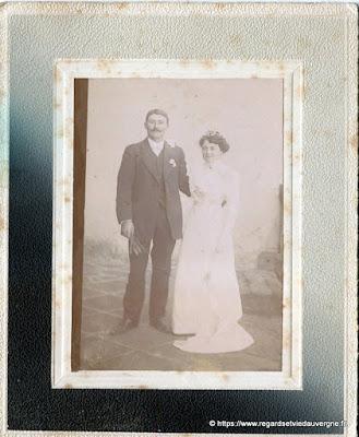 Photo de mariage noir et blanc, photo  Clavel, Pont du Château          Courty Vertaizon