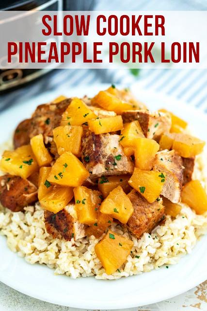 Slow Cooker Pineapple Pork LoinSlow Cooker Pineapple Pork Loin