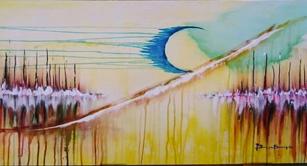 ilustração quadro pintado serieAcrílico sobre Telas