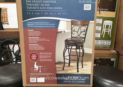 Costco 1041209 - American Heritage Swivel Barstool - great with any bar area or countertop