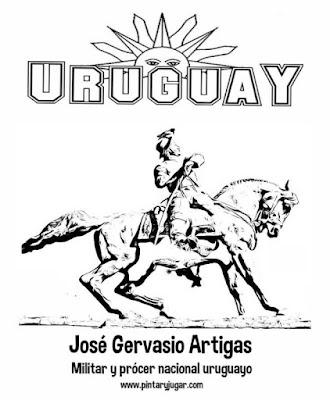 , colorear José Gervasio Artigas