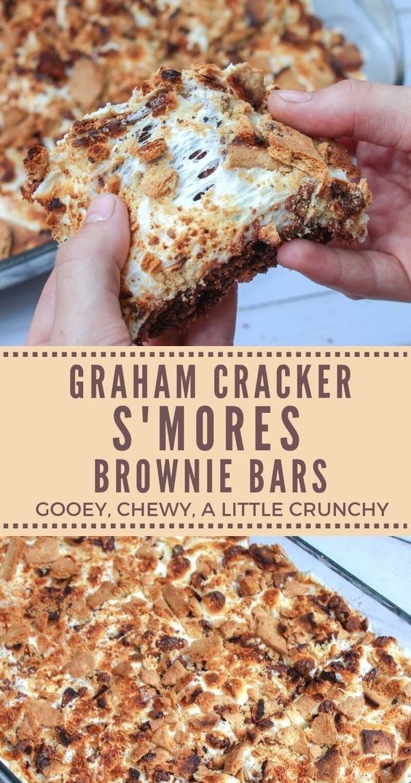 GRAHAM CRACKER S'MORES BROWNIE BARS | Angelica Vianna Food