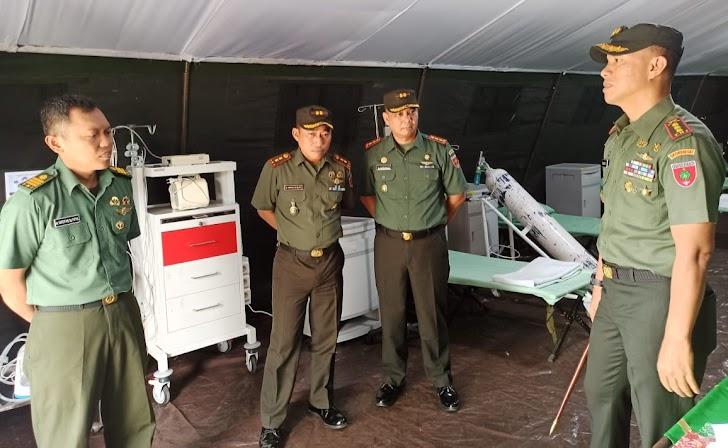 Danrem 141/ Tp Kolonel Inf Suwarno S.A.P dalam Rangka Mengecek Kesiapan  Ruang Rawat  Isolasi Covid 19