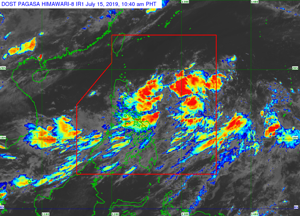 Latest satellite image of Tropical Depression 'Falcon'