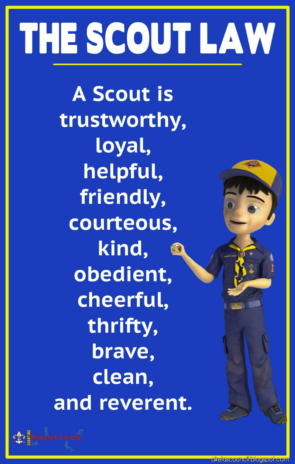 Nerdy image inside boy scout oath and law printable