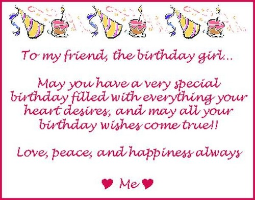Birthday Wishes for a Female Friend