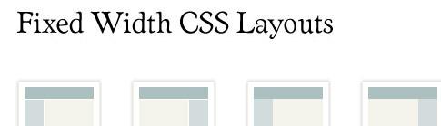 fixedwidthcsslayouts - Geliştiriciler ve Tasarımcılar İçin CSS Kaynakları