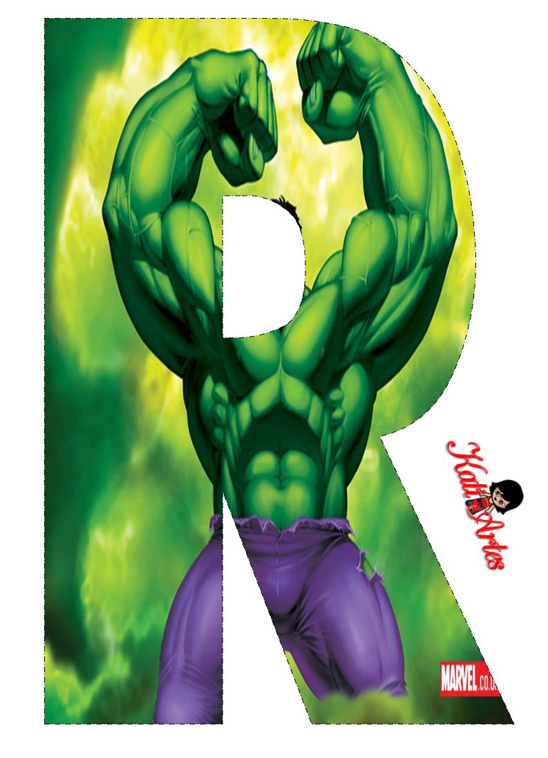 Alfabeto Gratis de Hulk. | Oh my Alfabetos!