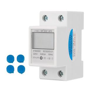 Công tơ đo điện 1 pha điện tử nhỏ gọn cho nhà yến.