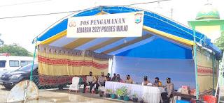 Kapolres Wajo Kunjungi Posko Pengamanan Operasi Ketupat 2021 Di Kecamatan Pammana