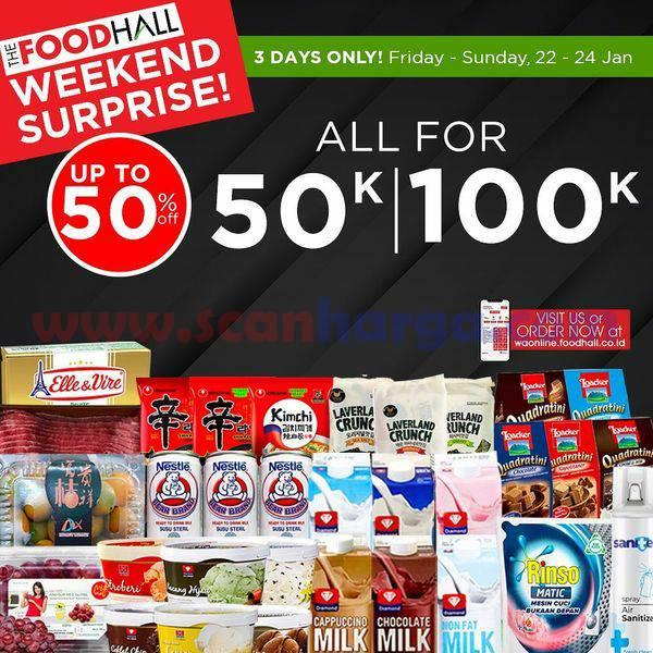 Promo JSM Foodhall Weekend Surprise Periode 22 - 24 Januari 2021
