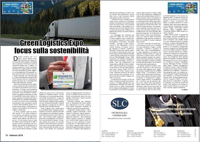 feb 2018 pag 10 - Green Logistics Expo  focus sulla sostenibilità