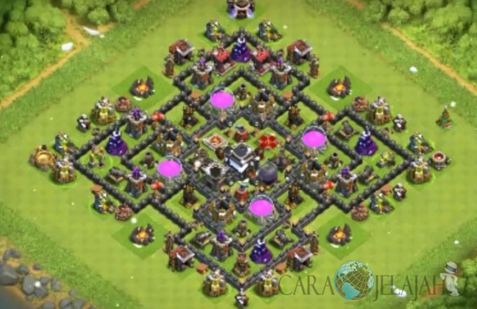 Base Farming TH 9 COC Update Bomb Tower Terbaru 2017 Tipe 7