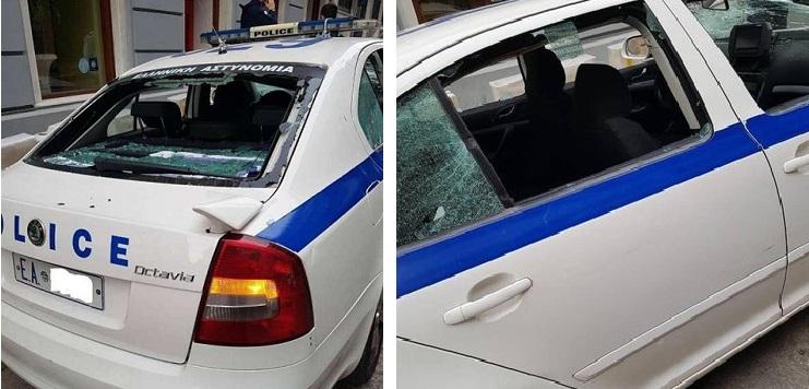 Εικόνες μετά την επίθεση σε περιπολικό του Α.Τ. Κυψέλης