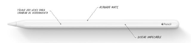 Apple Pencil magnético y con botón de herramienta